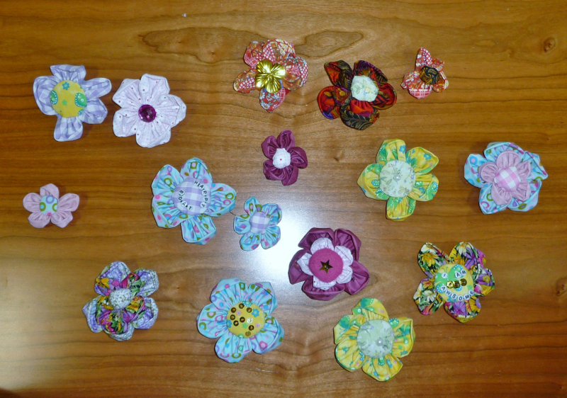 at the end of the day we had lots of completed brooches