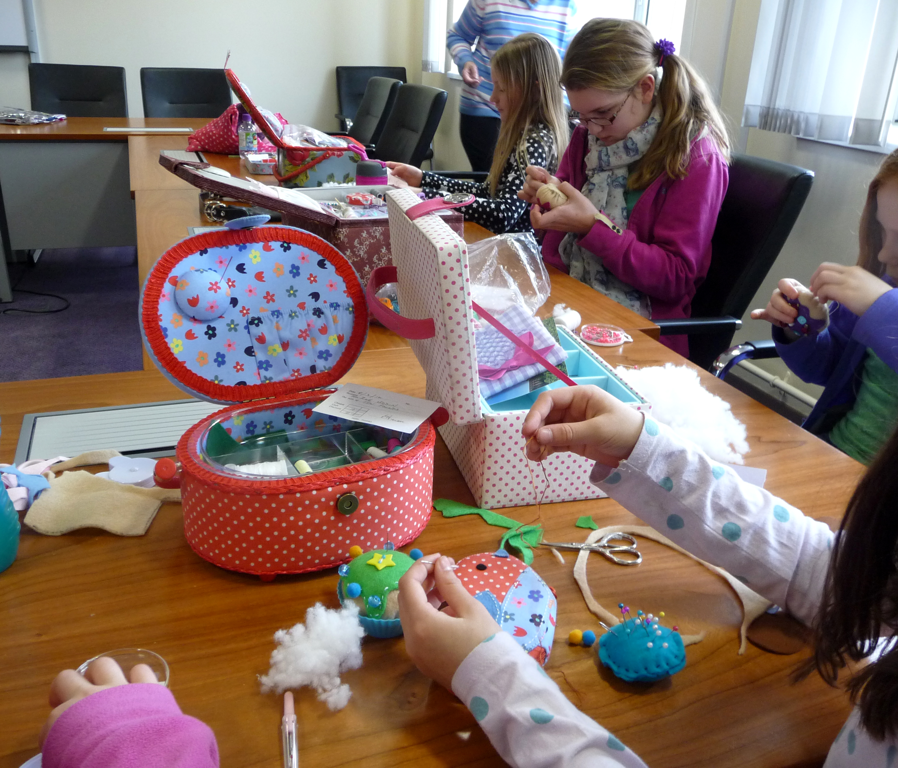 some of our YE Group are busy making felt cupcakes for Mothers Day