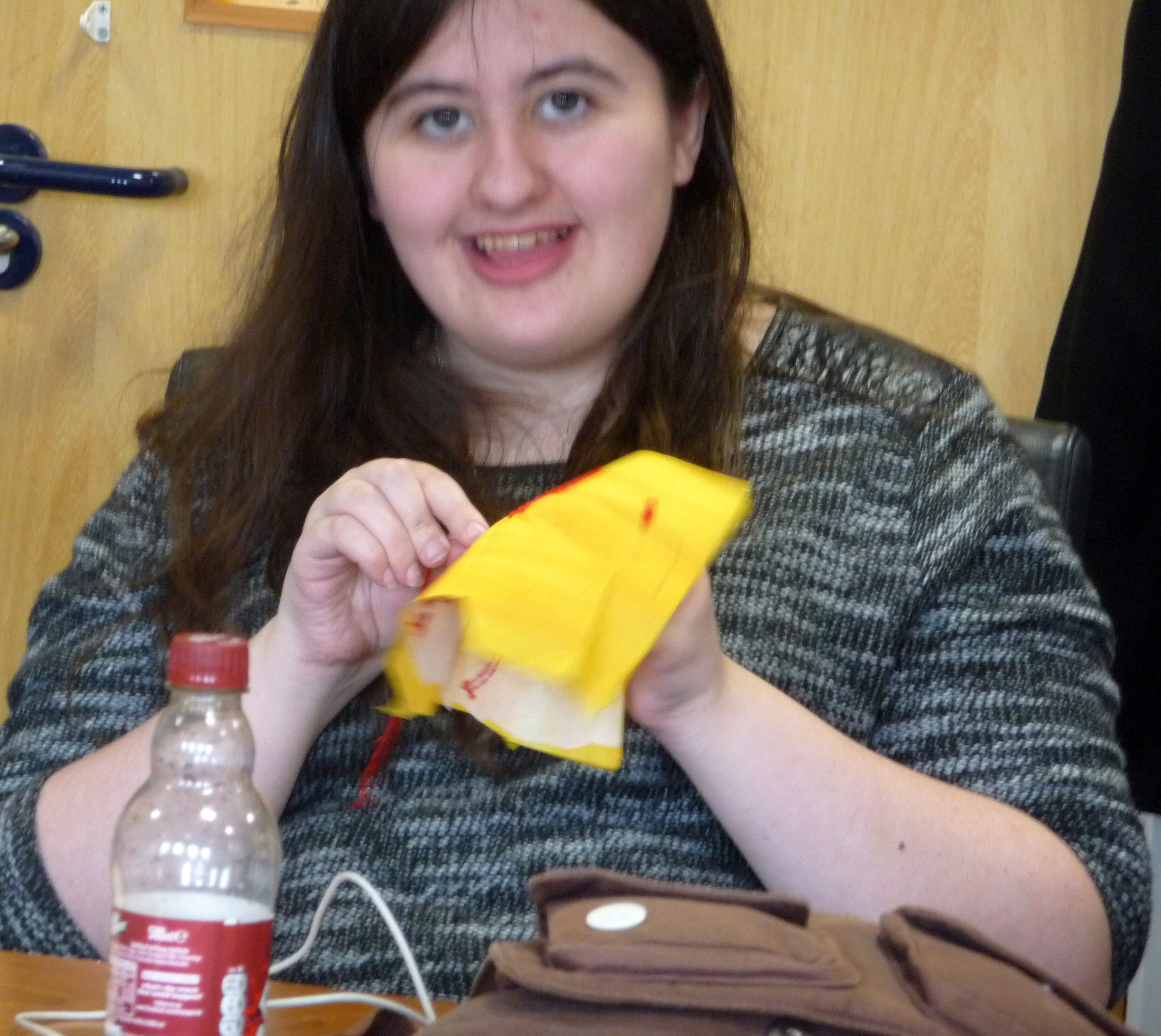 """Sophie is still working on the Yellow Submarine for our """"In Our Liverpool Home"""" embroidery project"""