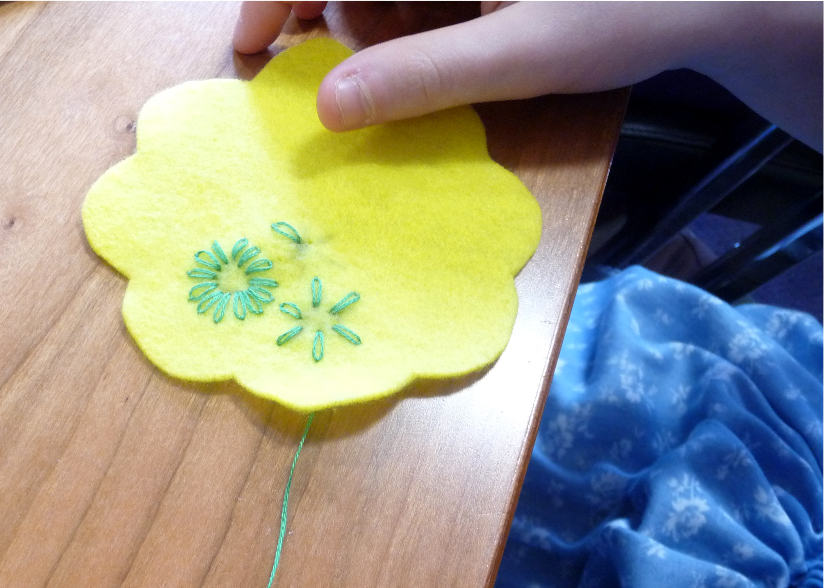 YE group are making embroidered purses for Mothers Day