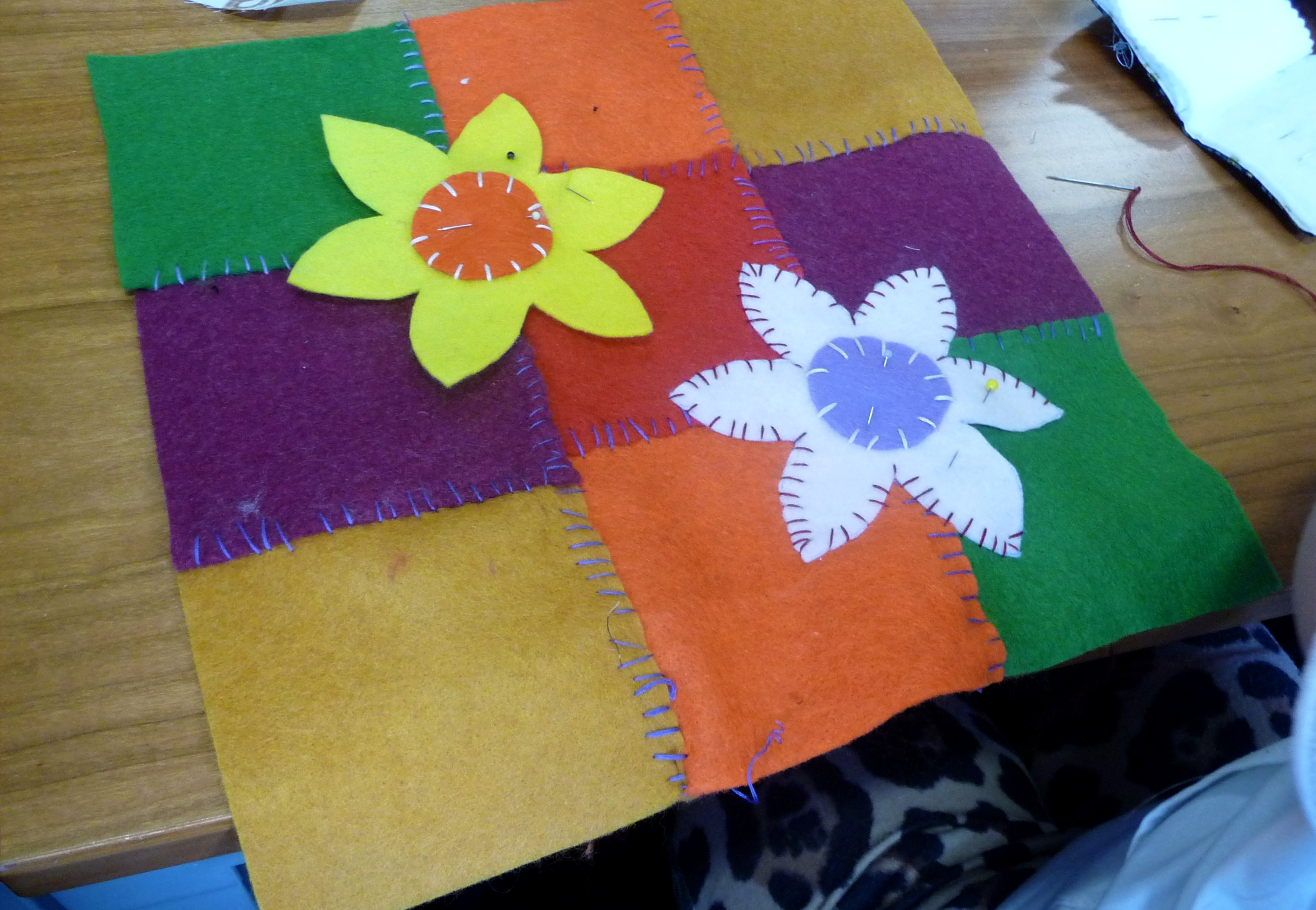 YE group are making applique cushions for Mothers Day