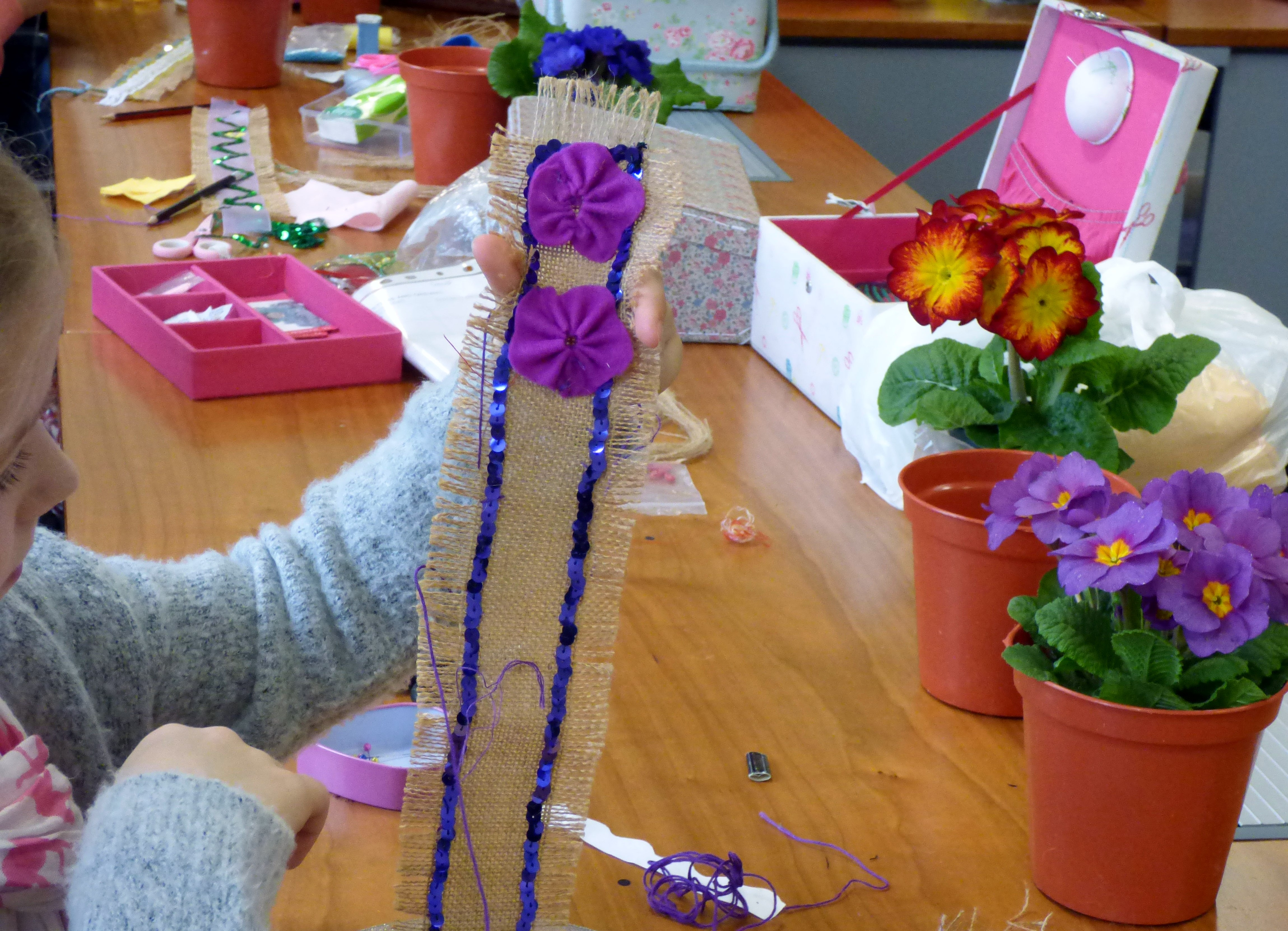 YE are making decorated plant pot bands for Mother's Day