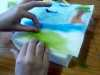 Merseyside YE were making needlefelted landscapes