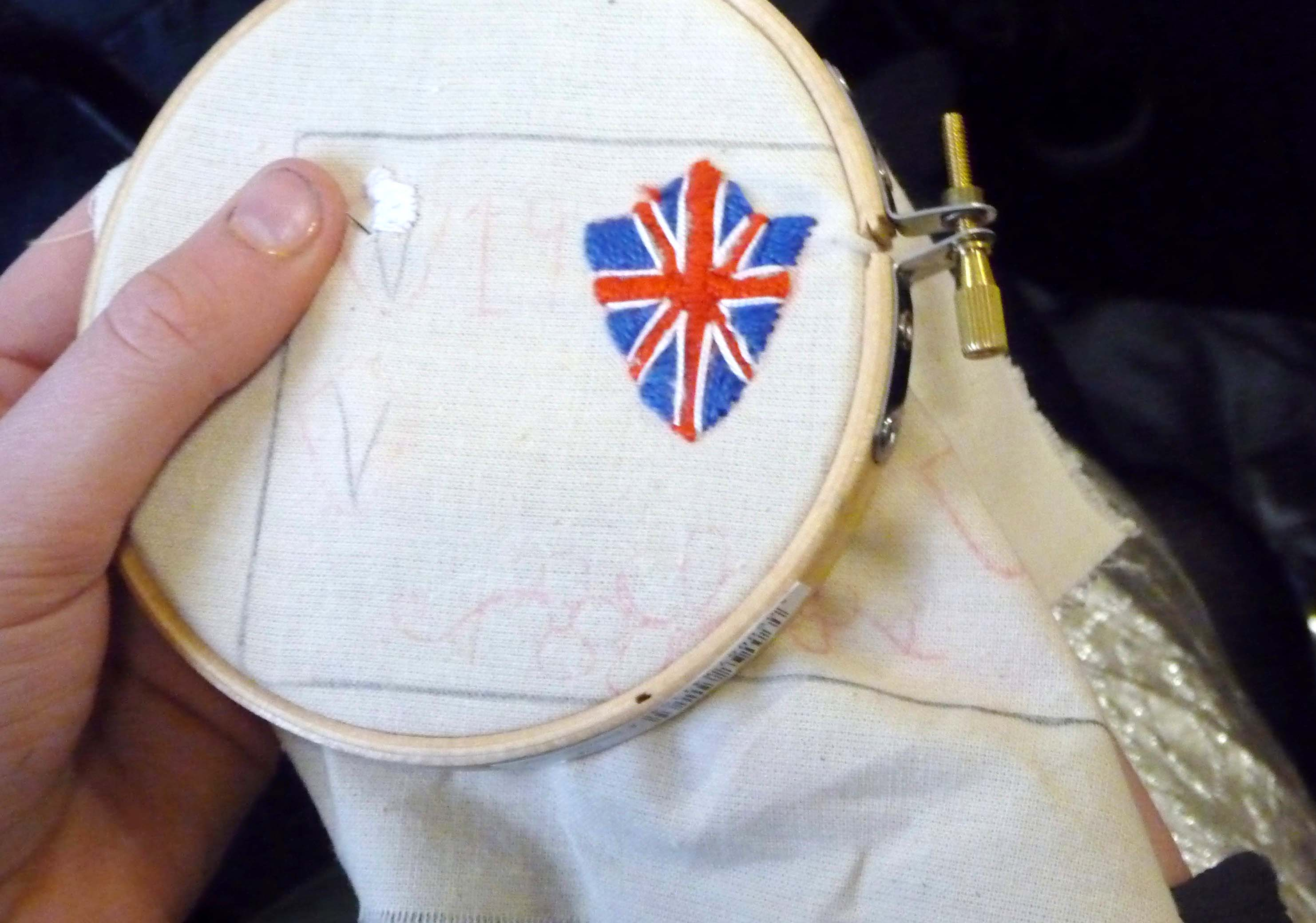 very neat embroidery from Orla