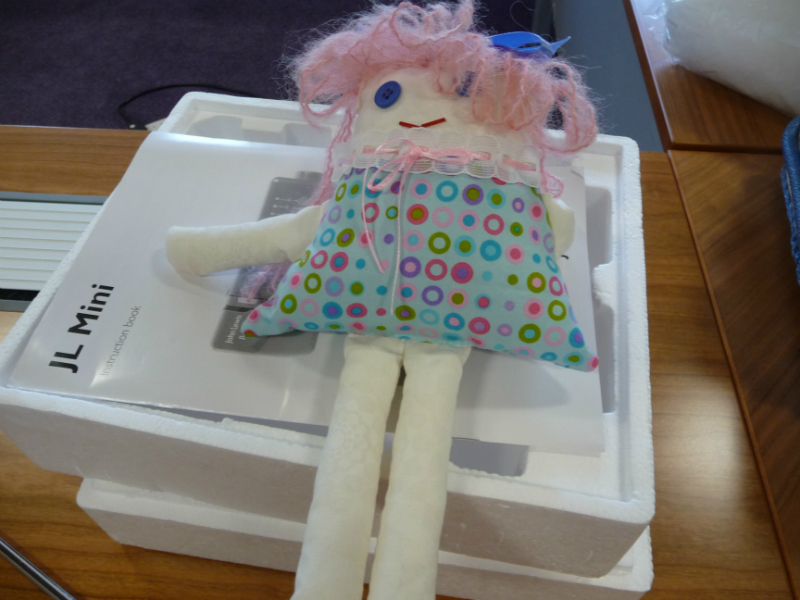 We made rag dolls this month