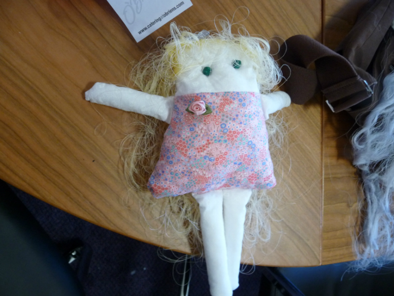 Grace\'s doll is taking shape