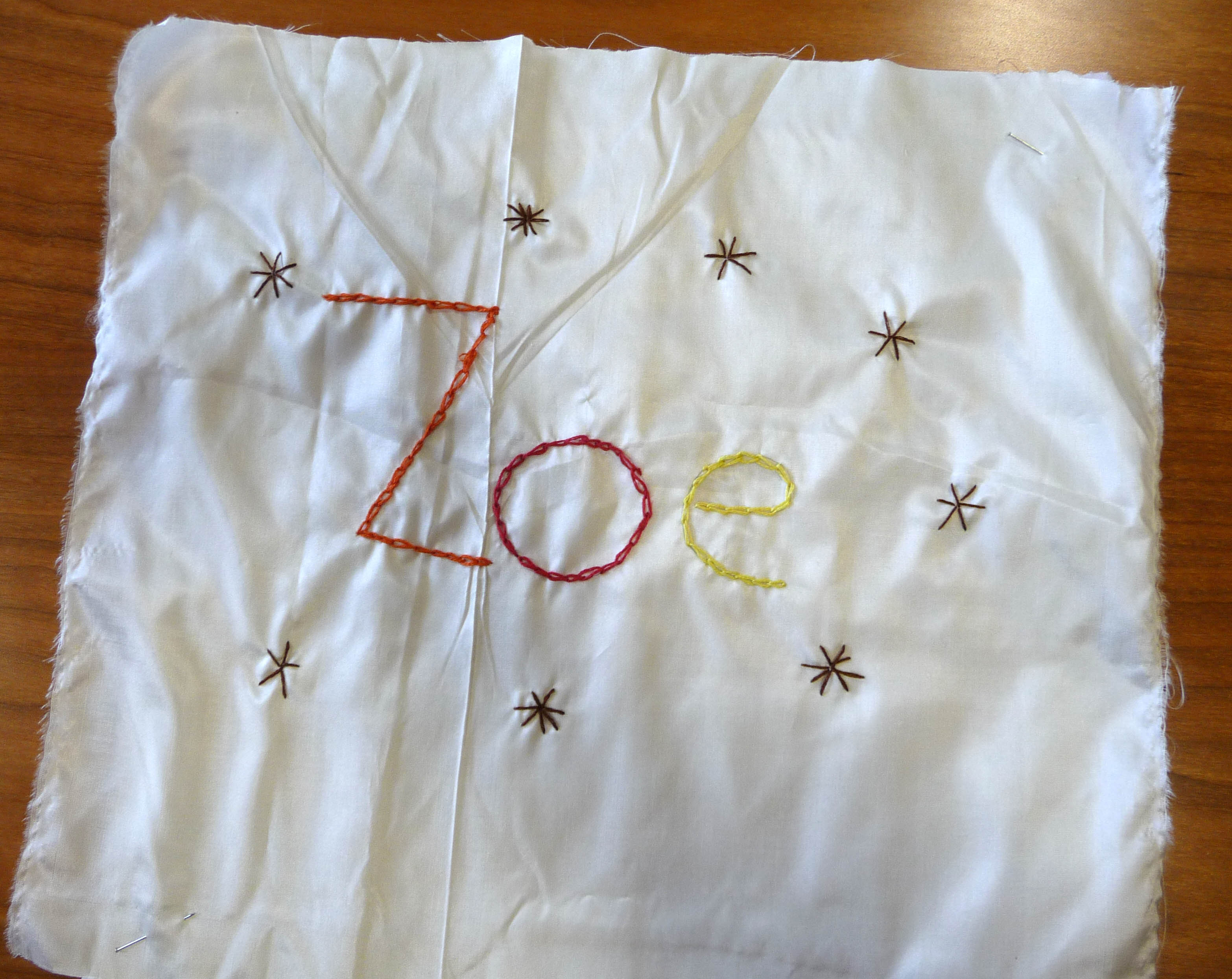 Zoe's completed square