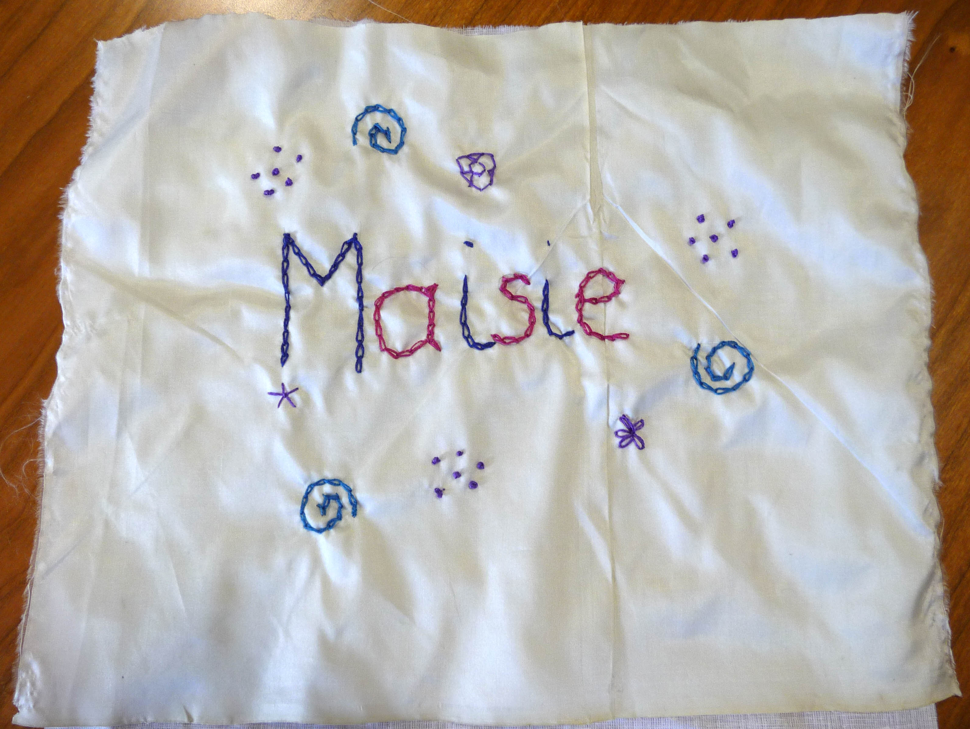 Maisie's completed square.