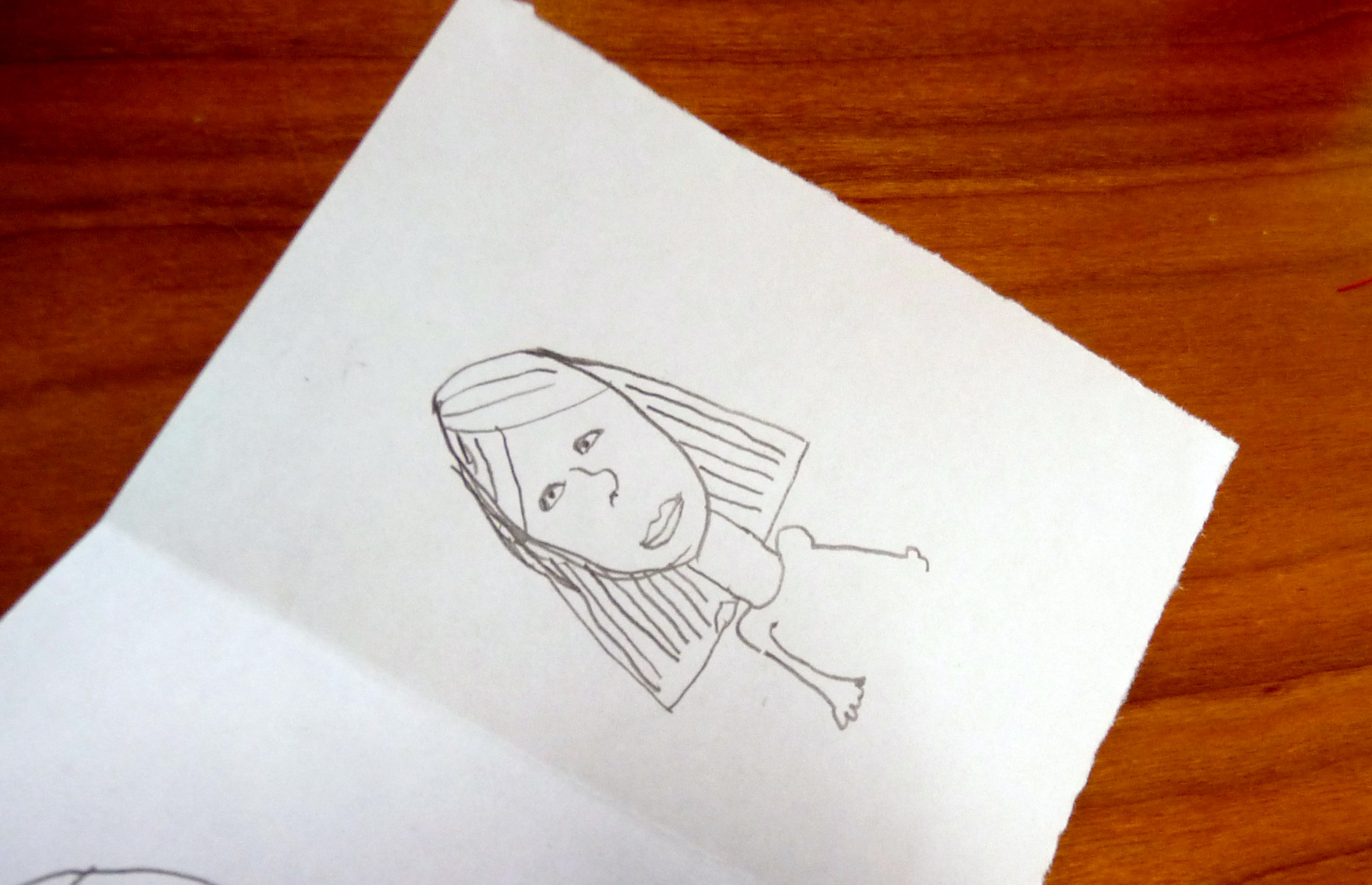 """we asked each YE member to draw a picture of themselves for """"In Our Liverpool Home"""". This is Hope"""