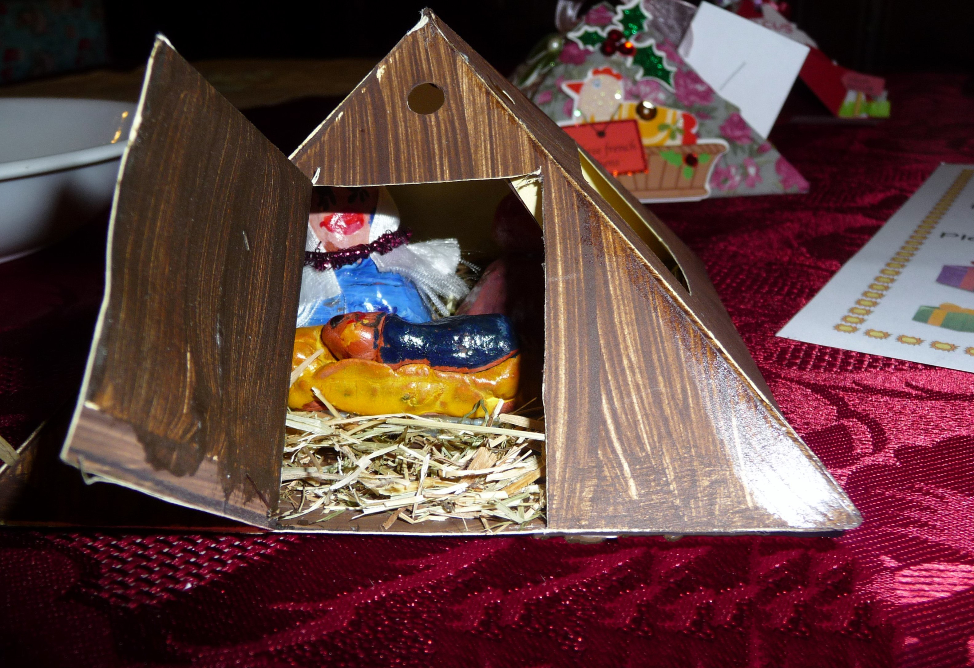 This is the winning entry to YE Christmas competition 2015. It is a Nativity scene by Emma Lewis