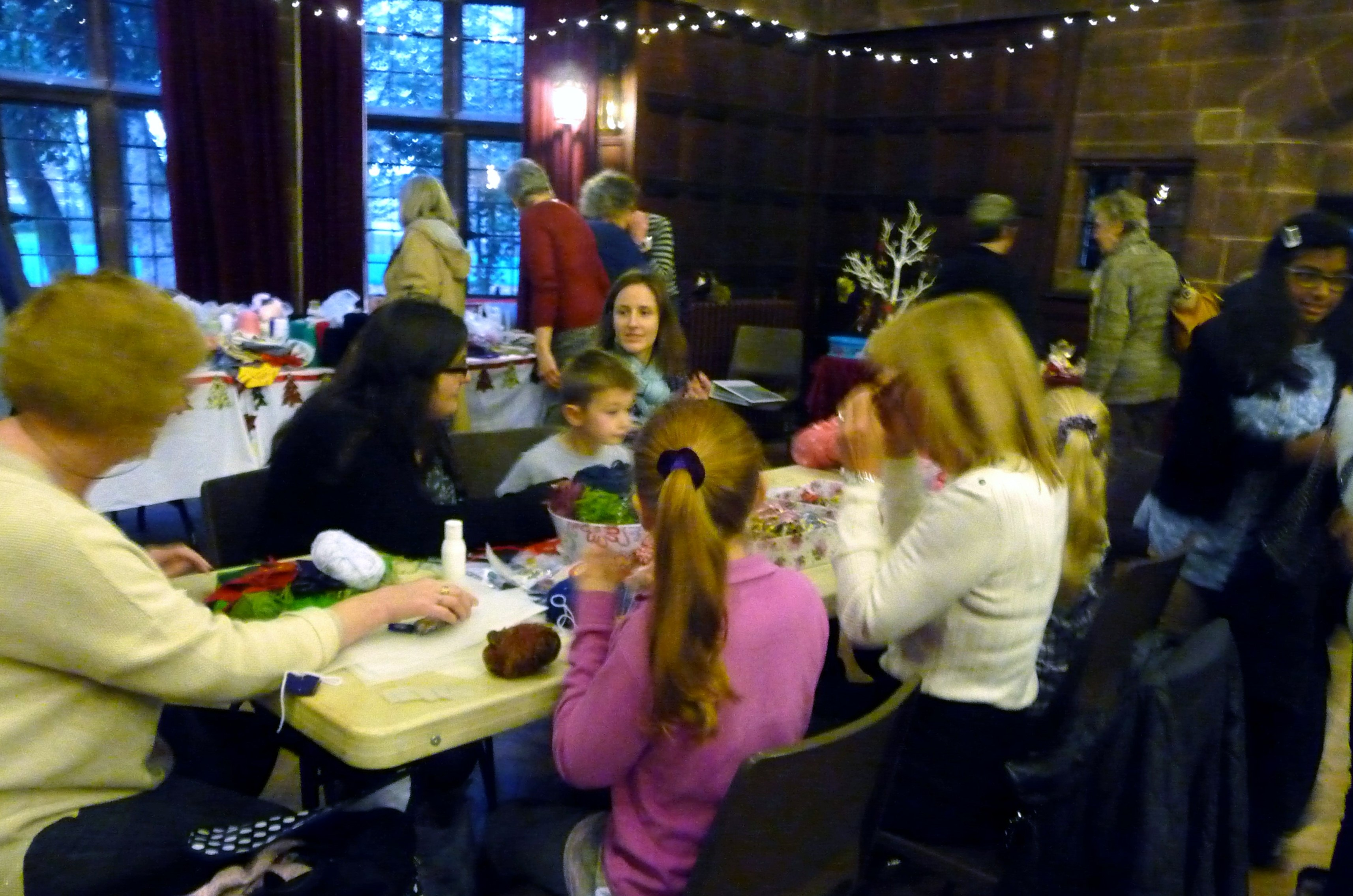 MEG Christmas Party 2015- our Make & Take activity table