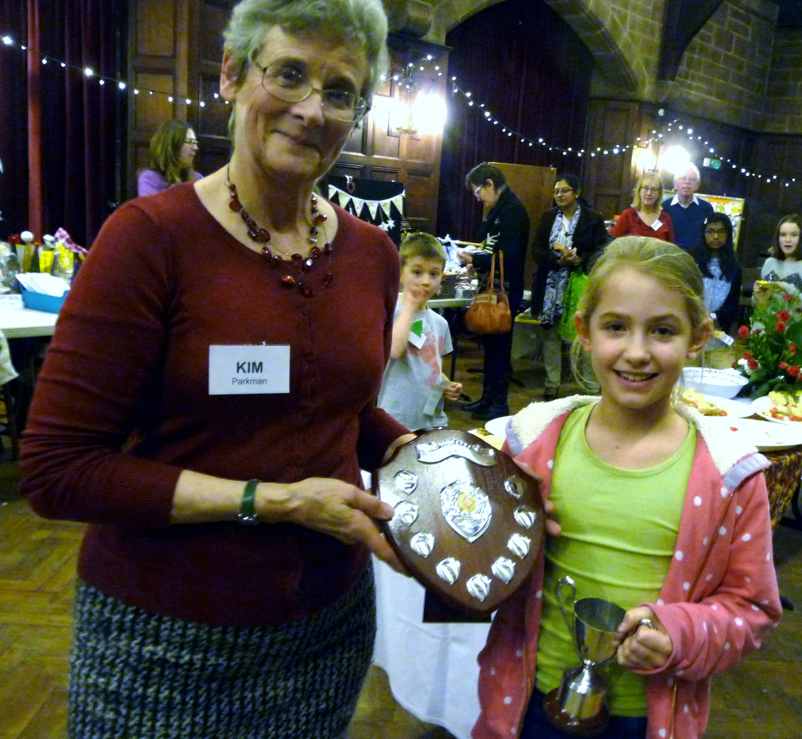 MEG Christmas Party 2015- Emma Lewis is Merseyside Young Embroiderer 2015