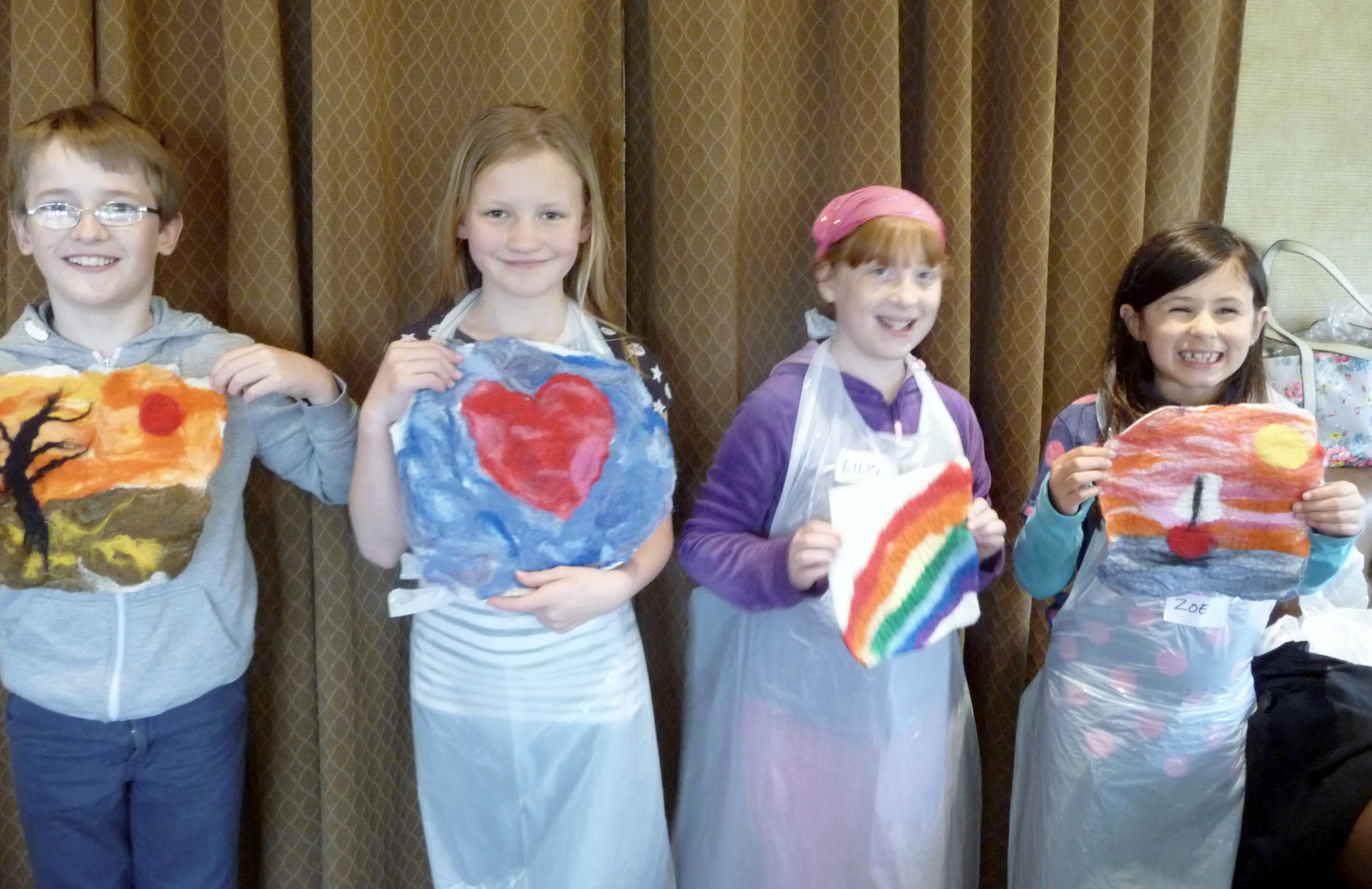 here are four of our YE Group who made felt at NW Regional Day 2014