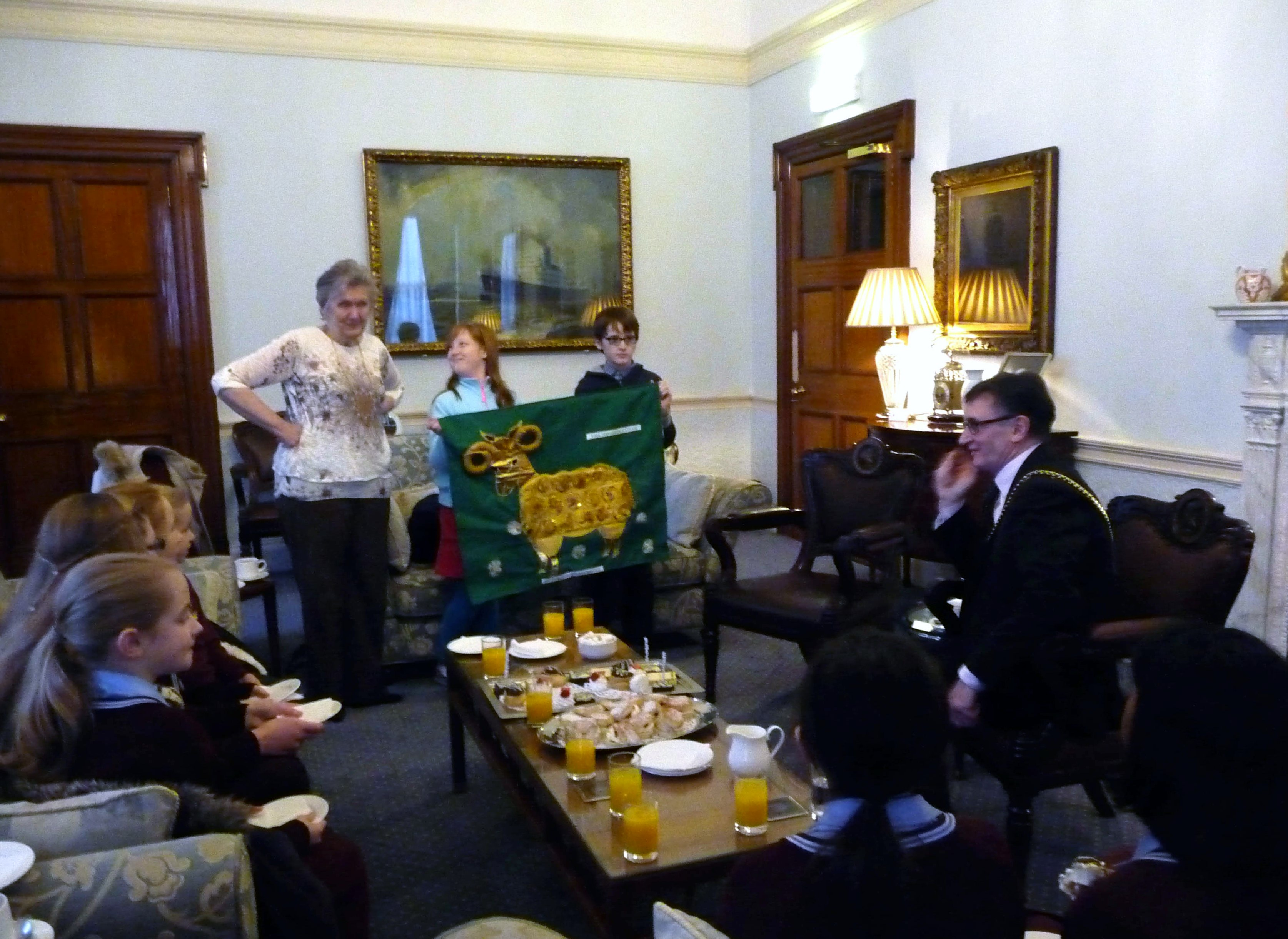 Merseyside YE and YE Leader Val Heron in the Mayor's Parlour, Liverpool, January 2016