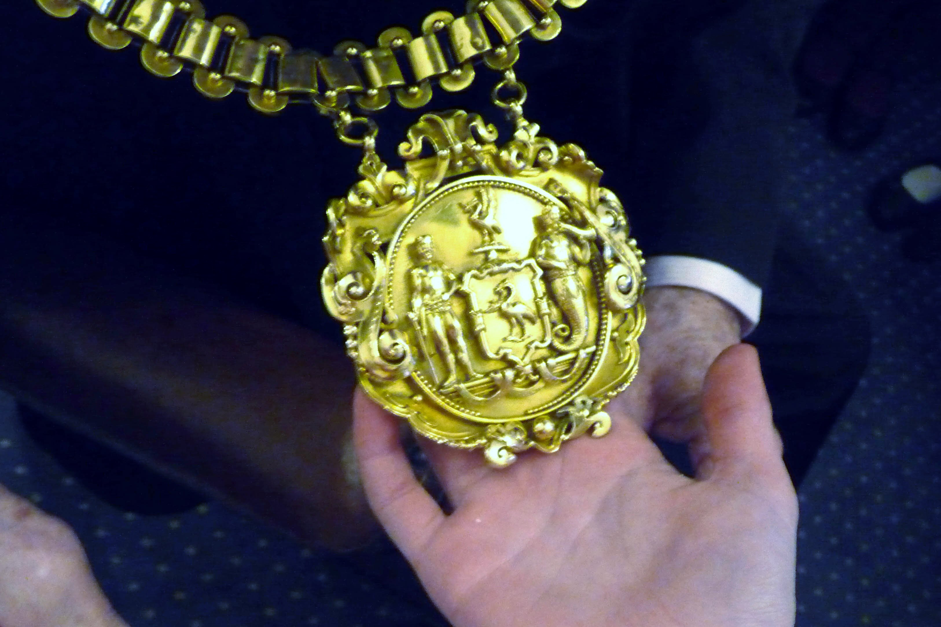 the golden Chain of Office of the Lord Mayor of Liverpool