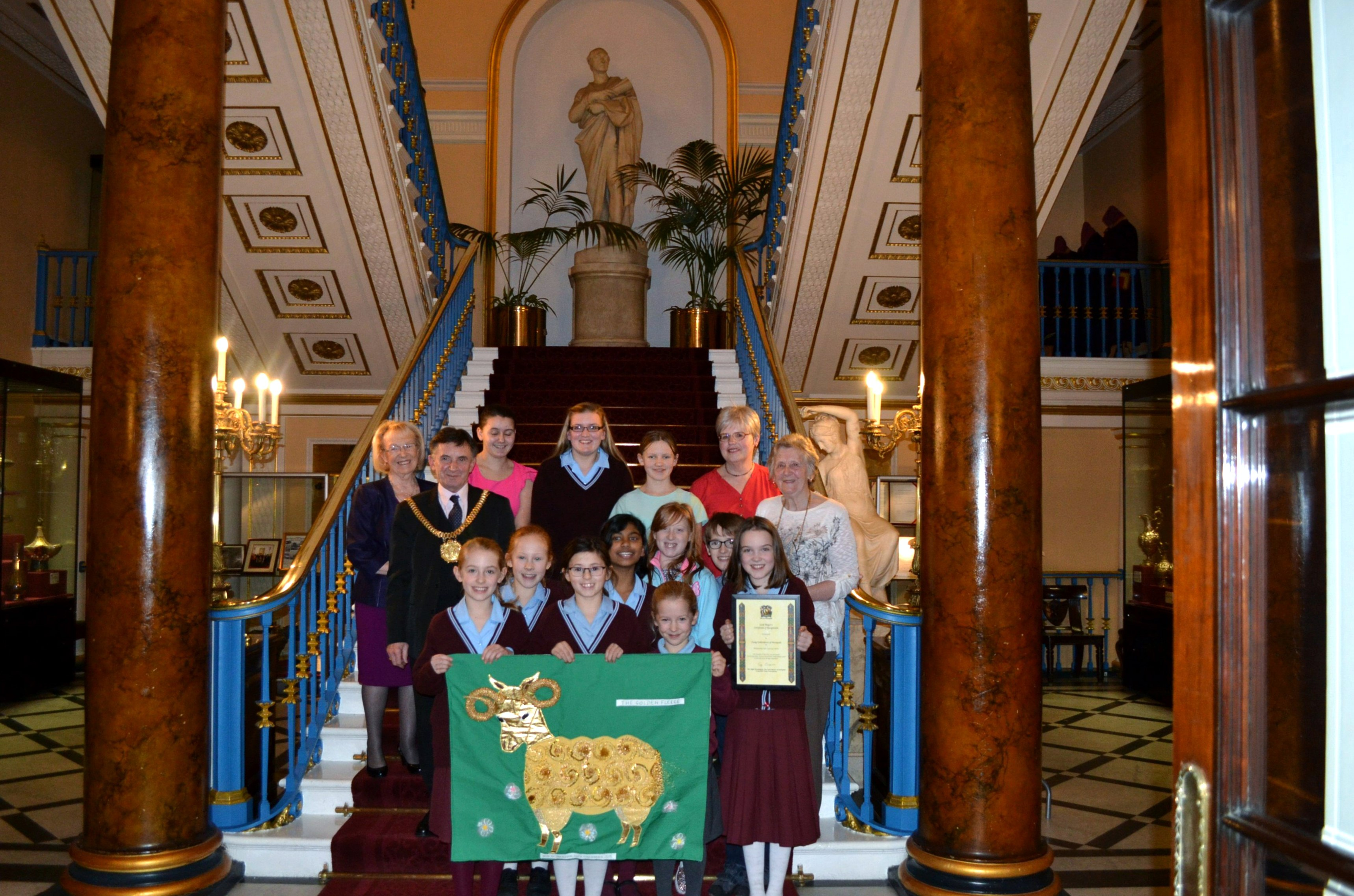 YE Group with Lord Mayor of Liverpool, Jan 2016