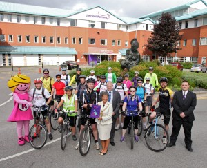 Liverpool Women's Hospital Charity Bike Ride 2014 & pennant made by Merseyside YE
