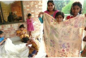 Sreepur quilt made for St Austin's school, Grassendale