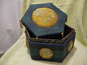 Hilary's box-winner of Trad embroidery 2011