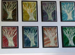 Gill Roberts embroidery of trees, winner of 2012 Colour Competition
