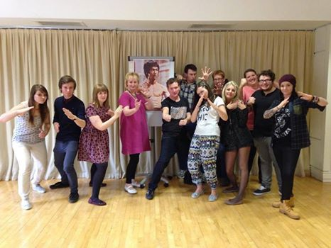 MY AFTERNOON WITH BRUCE LEE Sarah with all the cast Sept 2014