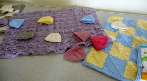 knitted blankets and hats for premature babies