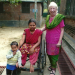 Paural with her son and Ruby Porter MBE in Sreepur, Bangladesh 2014