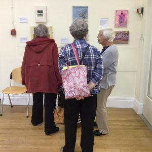 some of Merseyside Embroiderers Guild at the Capability Brown exhibition, Macclesfield 2016