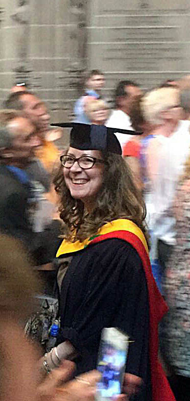 Karen Scott's graduation from Hope University, 19th July 2016 in Liverpool Anglican Cathedral
