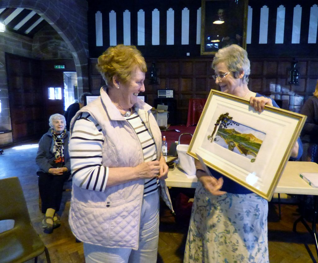 Beryl Webster won First Prize in the Colour Competition with BUTTERMERE at MEG Summer Tea Party 2016