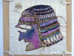SAMURAI 2 by Marilyn McNeill, Textile Art Group exhibition, Leeds 2016