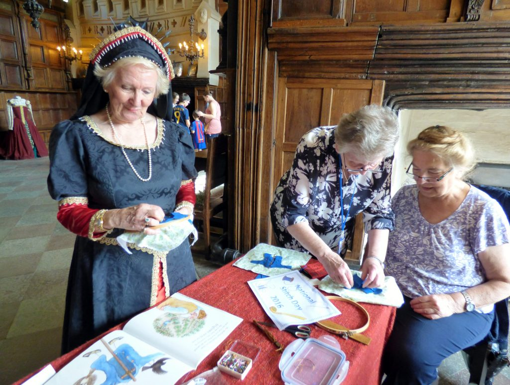 MEG at National Stitch Day 2016, Speke Hall, Liverpool