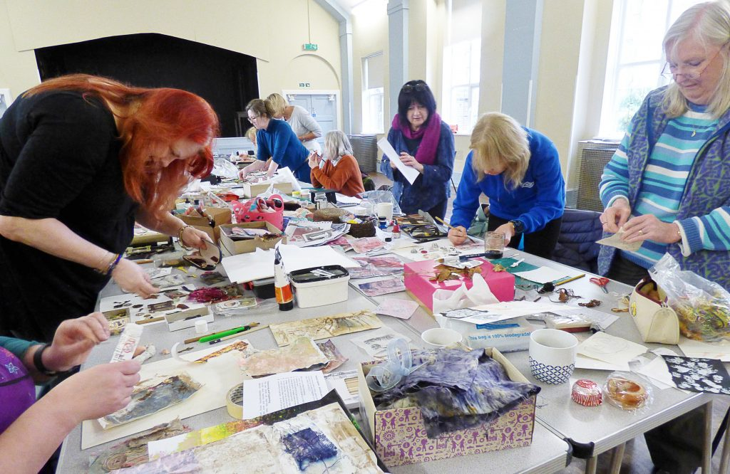 """Fabulous Fragments"" workshop with Shelley Rhodes 2017"