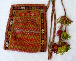 embroidered bag by Qaraqalpaq people