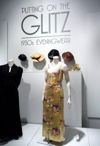 Evening dress, printed rayon satin, 1937-38