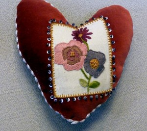 pincushion to commemorate World War 1 made by Becky Waite