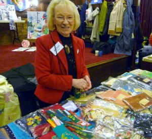 MEG Christmas Party 2015- Kathy Green with the Sreepur charity stall