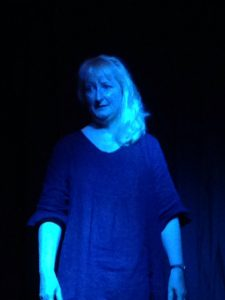 "Sarah performing ""Modern Myths"", July 2017"