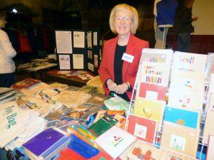 Kathy Green with the Sreepur stall at MEG Winter Fair 2016