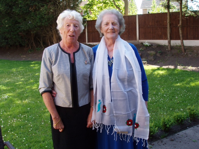 Alma from Soroptimist International wearing a Sreepur scarf