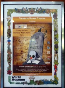 poster for a play titled RIP Mr Shakespeare by Hand in Hand Theatre Company