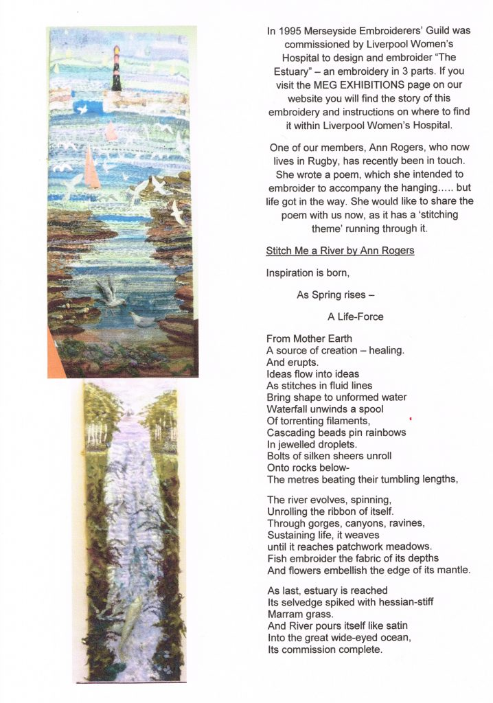 Stitch Me a River by Ann Rogers, 1995