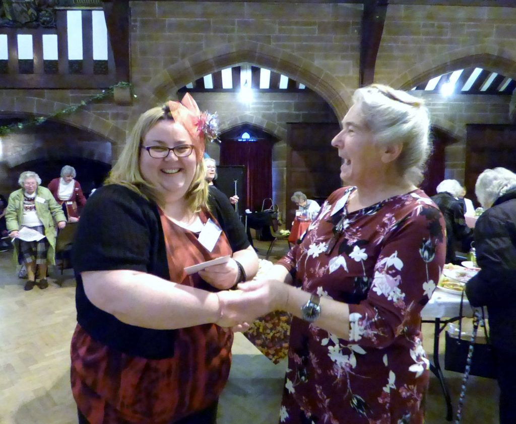 Miranda was the First Prize winner of the 2017 Traditional Embroidery Competition, and her prize was presented by Vicky Williams our MEG Chair 2017