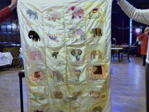this is the latest Sreepur quilt which will be raffled, with all profits going to benefit Sreepur charity in Bangladesh
