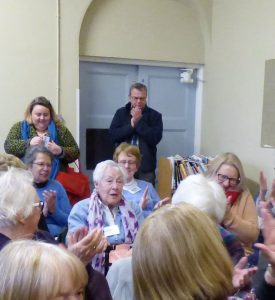 Congratulations to Margaret Gold on her 90th birthday at Bee Weir workshop 20.01.18