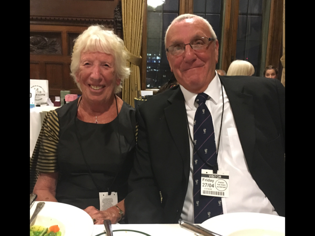 Ruby Porter MBE at Sreepur fundraising dinner in House of Commons, Westminster, April 2018