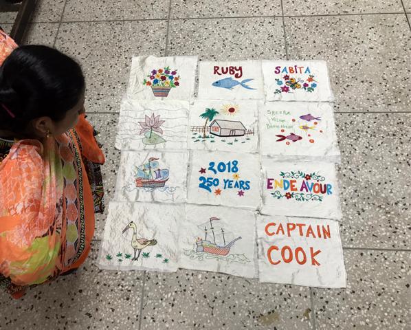 Sreepur quilt for Endeavour exhibition, August 2018