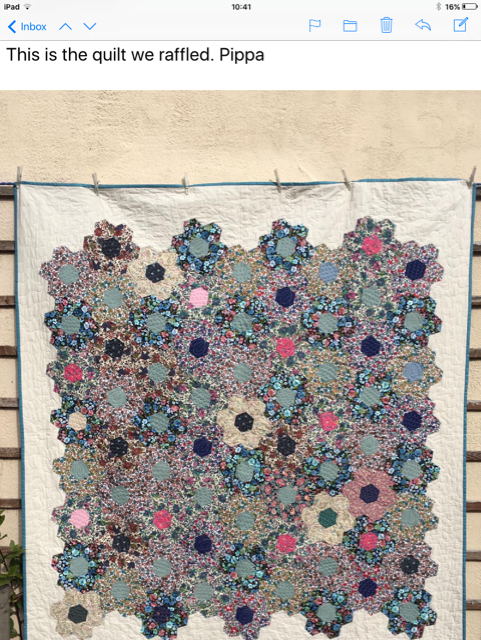 quilt raffled by Pippa and friends to aid Sreepur charity