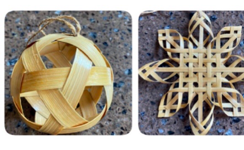 Bamboo Christmas decorations made in Sreepur, Aug 2020