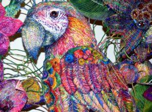 detail) KAMADEVA, MARY AND DURER'S PARROT by Nikki Parmenter, Gawthorpe Hall, Sept 2020